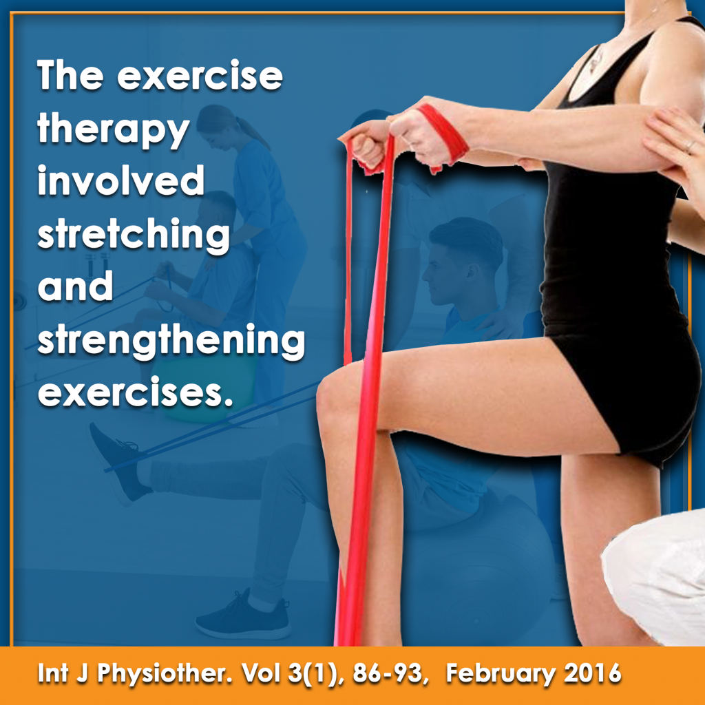 Exercise therapy involved stretching and strengthening exercises information