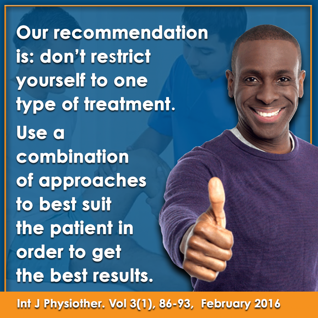 Us a combination of approached for best pain relief for your patient