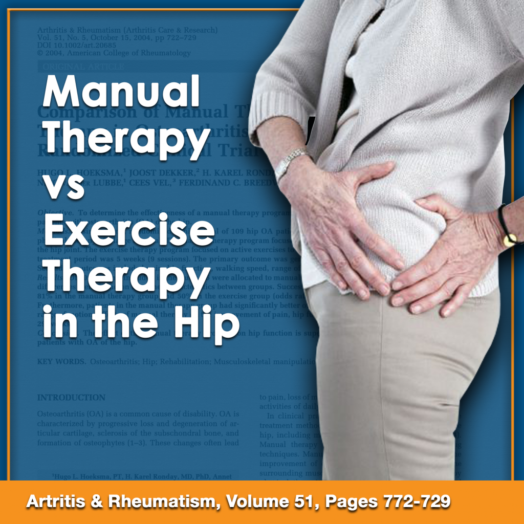 manual therapy vs exercise therapy in the hip