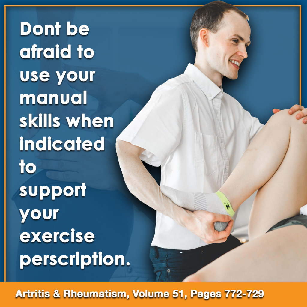 manual therapy skills and exercise prescription