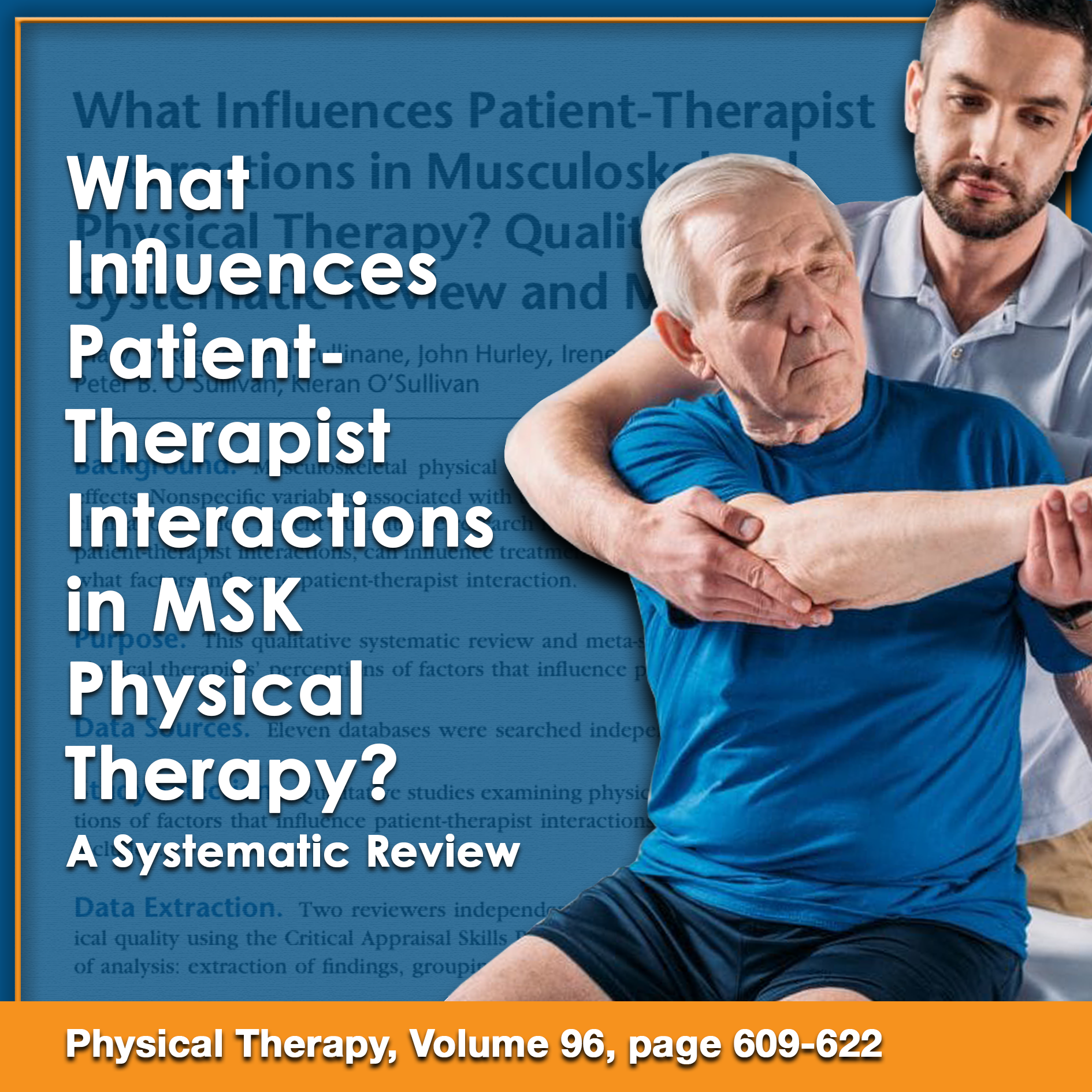 What Influences Patient-Therapist Interactions in Musculoskeletal Physical Therapy? A Qualitative Systematic Review and Meta-Synthesis.